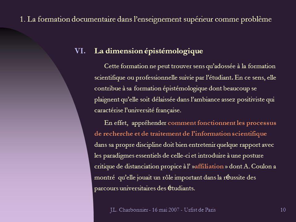 J.L. Charbonnier - 16 mai 2007 - Urfist de Paris10 1.