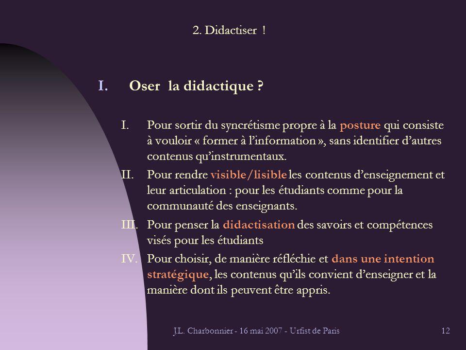 J.L. Charbonnier - 16 mai 2007 - Urfist de Paris12 2.