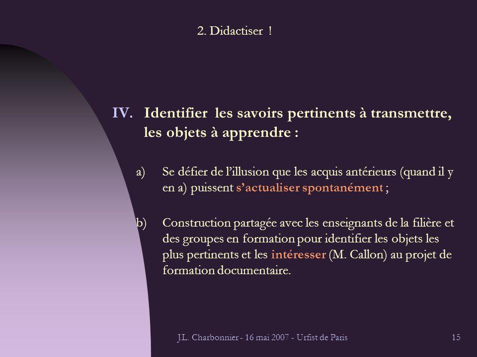 J.L. Charbonnier - 16 mai 2007 - Urfist de Paris15 2.