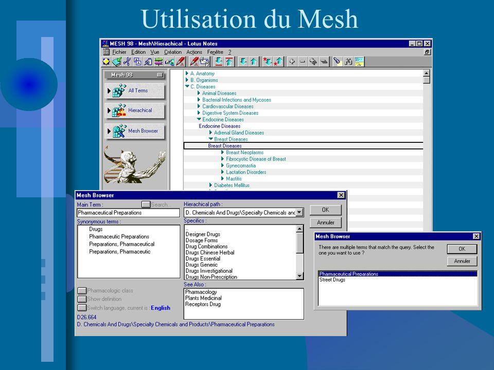 Utilisation du Mesh