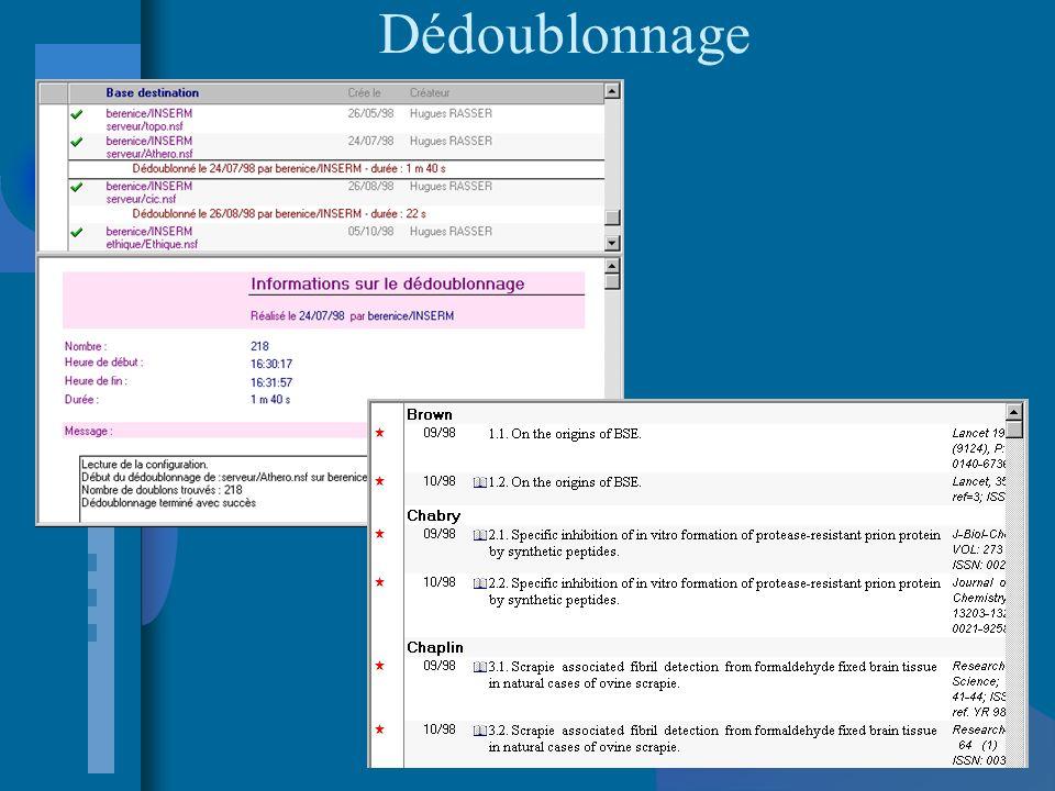 Définition de profils Profil d intérêt individualisé mis en mémoire Mise à jour automatique Diffusion par messagerie