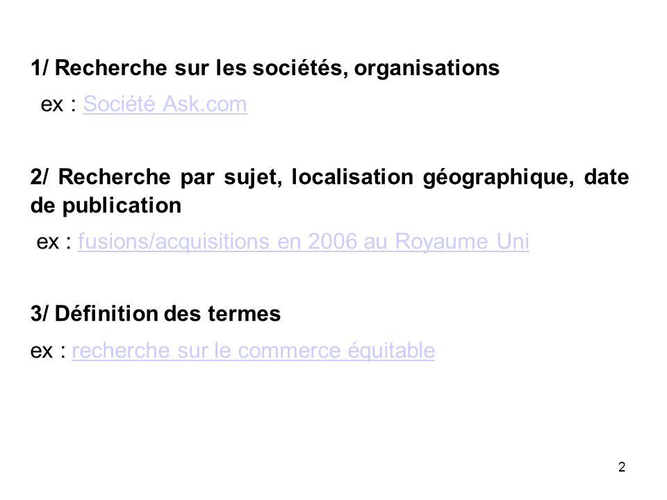33 6/ Recherche sur les périodiques ex : trouver le nombre d articles dépouillés par la revue CRN en 2005 retour sommaire