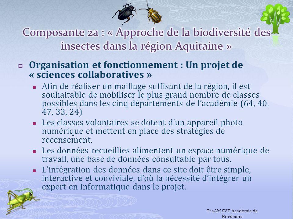 Organisation et fonctionnement : Un projet de « sciences collaboratives » Afin de réaliser un maillage suffisant de la région, il est souhaitable de m