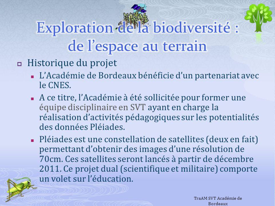 Historique du projet LAcadémie de Bordeaux bénéficie dun partenariat avec le CNES. A ce titre, lAcadémie à été sollicitée pour former une équipe disci