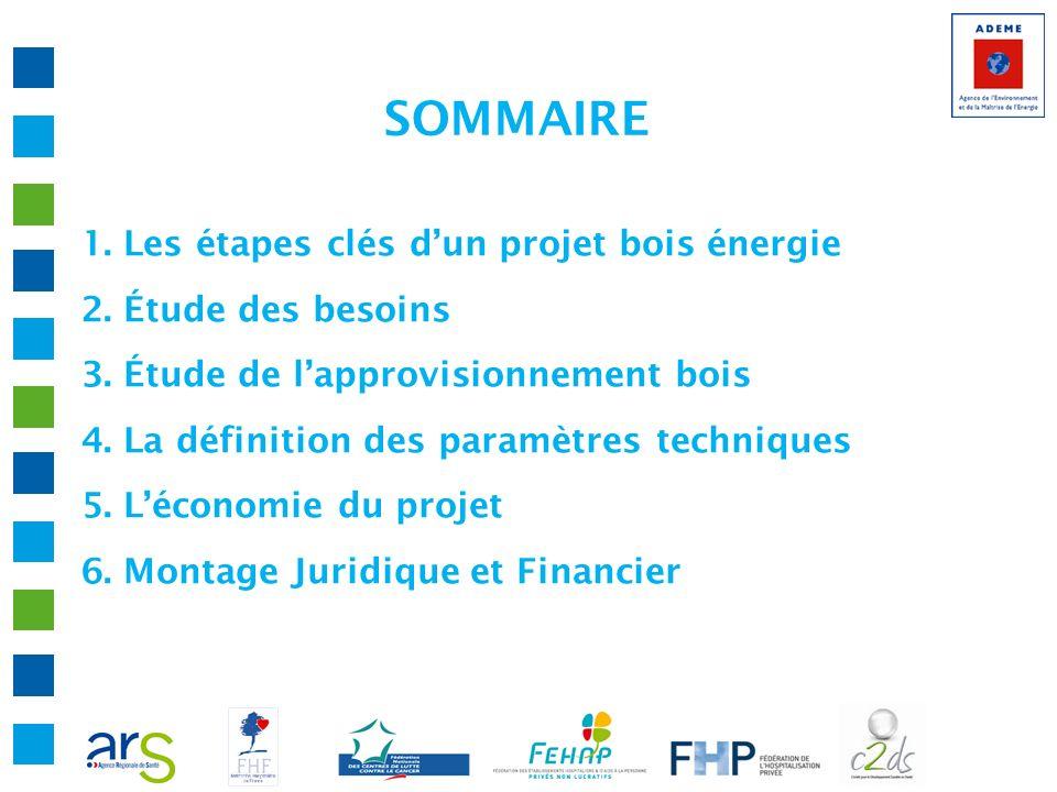 SOMMAIRE 1. Les étapes clés dun projet bois énergie 2. Étude des besoins 3. Étude de lapprovisionnement bois 4. La définition des paramètres technique