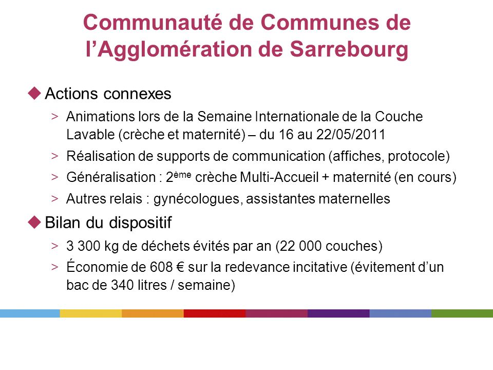 Actions connexes >Animations lors de la Semaine Internationale de la Couche Lavable (crèche et maternité) – du 16 au 22/05/2011 >Réalisation de suppor