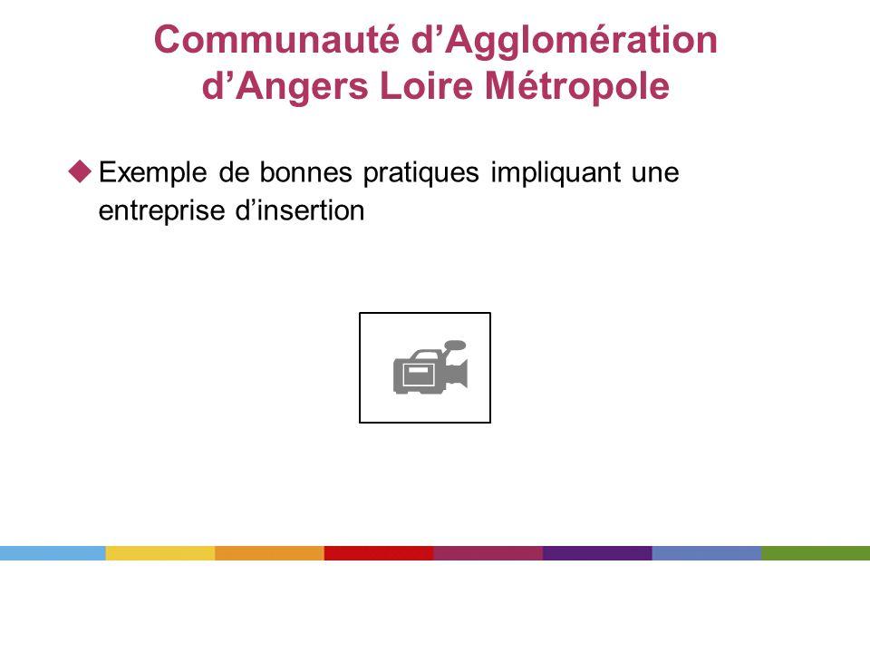 Communauté dAgglomération dAngers Loire Métropole Exemple de bonnes pratiques impliquant une entreprise dinsertion