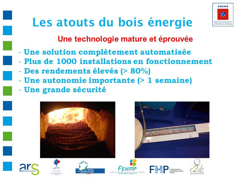 Les atouts du bois énergie Une technologie mature et é prouv é e - Une solution complètement automatisée - Plus de 1000 installations en fonctionnemen