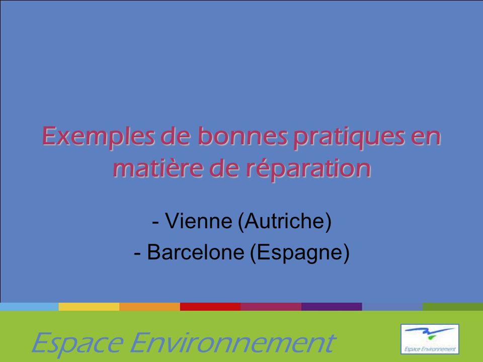 Espace Environnement Exemples de bonnes pratiques en matière de réparation - Vienne (Autriche) - Barcelone (Espagne)