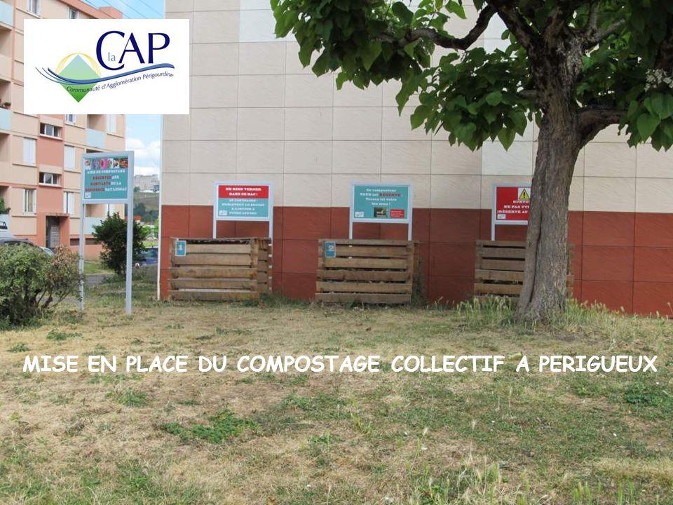 Mise en place du compostage collectif à Périgueux MISE EN PLACE DU COMPOSTAGE COLLECTIF A PERIGUEUX
