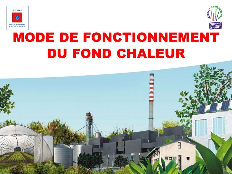 MODE DE FONCTIONNEMENT DU FOND CHALEUR 11