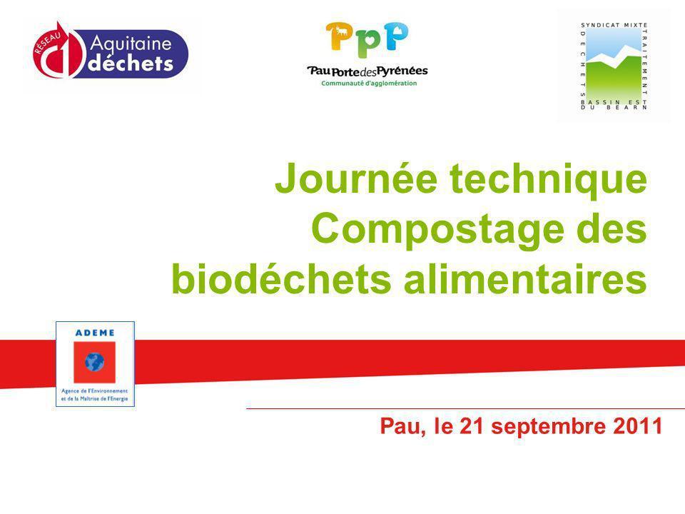 Journée technique Compostage des biodéchets alimentaires Pau, le 21 septembre 2011