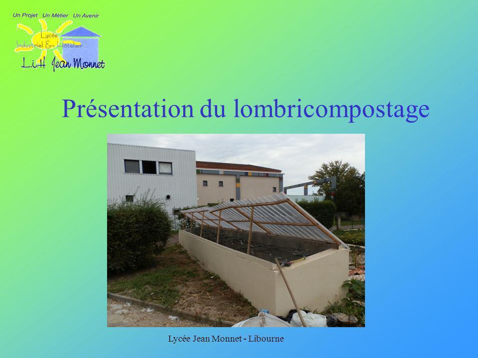 Lycée Jean Monnet - Libourne Présentation du lombricompostage