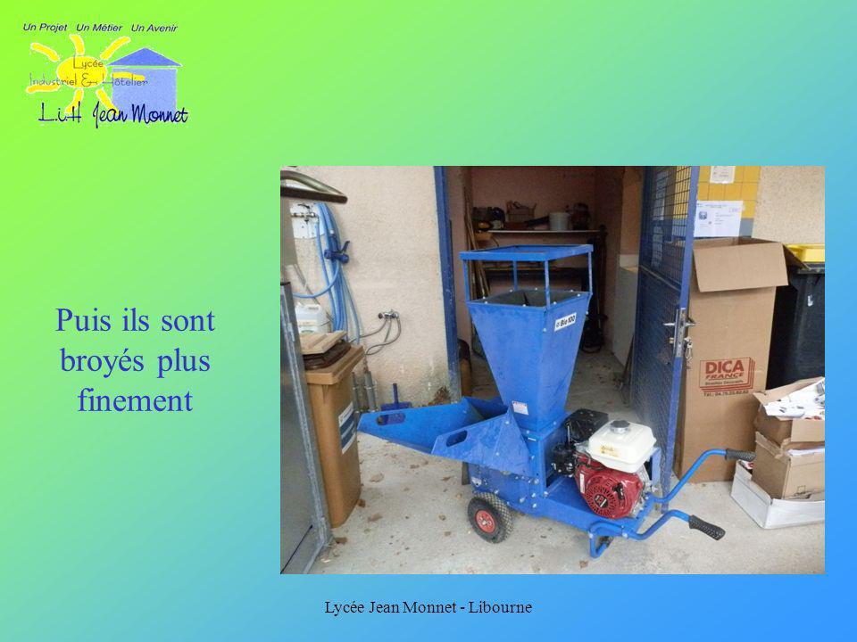 Lycée Jean Monnet - Libourne Puis ils sont broyés plus finement
