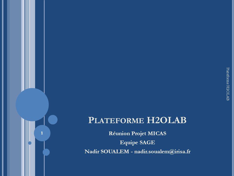 P LAN Portage Windows-Linux Problèmes Rencontrés Applications portées sous Linux Outil de génération Cmake Exemple dutilisation Configuration Génération Ctest Travaux en cours et objectifs 2 Plateforme H2OLAB