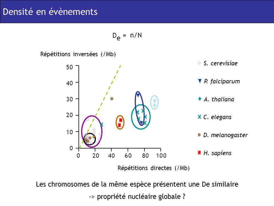 Les chromosomes de la même espèce présentent une De similaire -> propriété nucléaire globale .