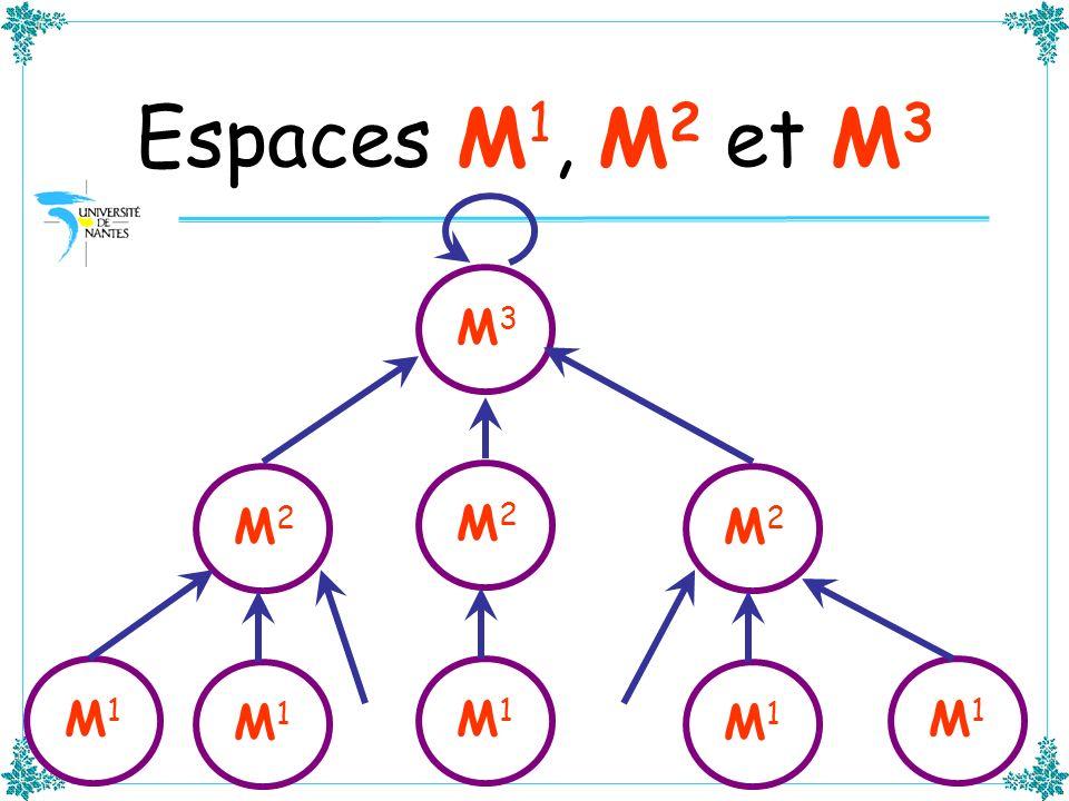 Espaces M 1, M 2 et M 3 M3M3 M2M2 M1M1 M2M2 M1M1 M2M2 M1M1 M1M1 M1M1