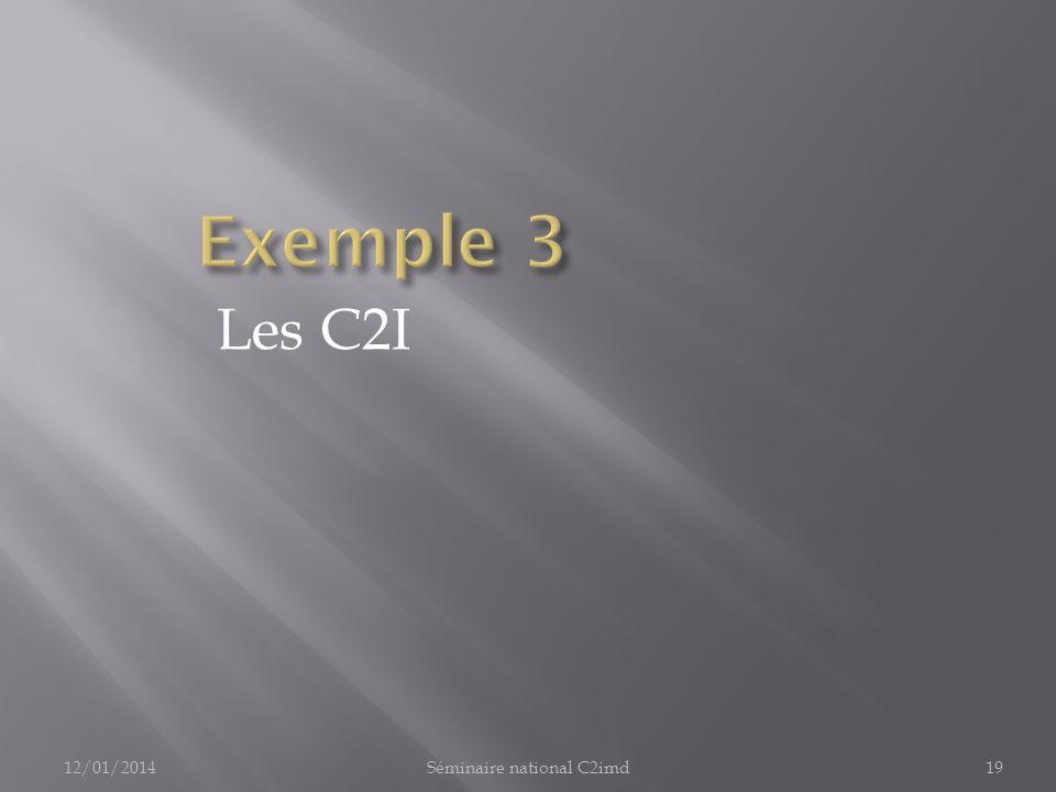 Les C2I 12/01/201419Séminaire national C2imd