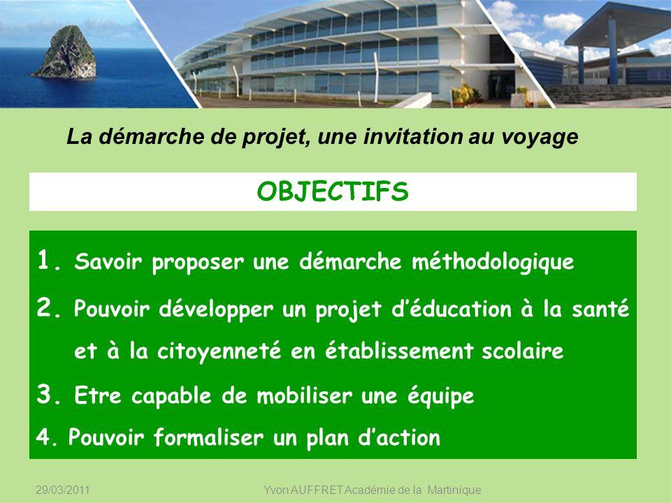 29/03/2011 Yvon AUFFRET Académie de la Martinique Planifier CollègeLycée 2.