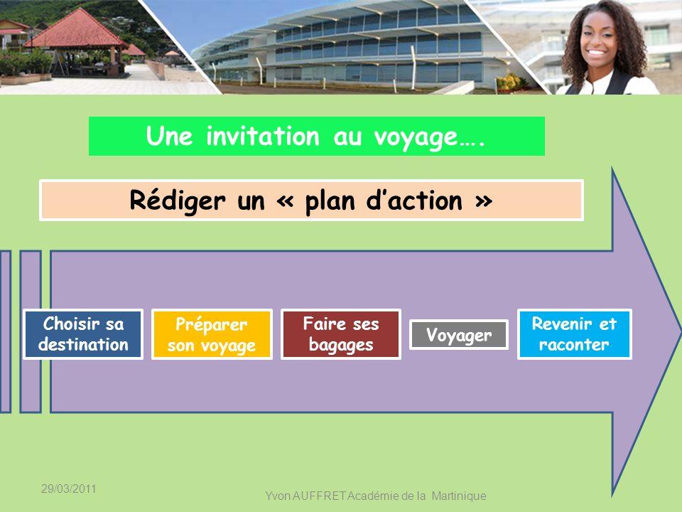 29/03/2011 Yvon AUFFRET Académie de la Martinique Faire un diagnostic CollègeLycée Choisir des priorités Analyser la situation 1.