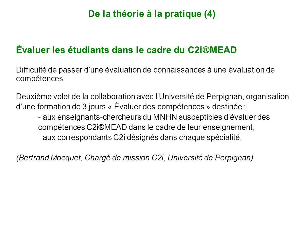 Évaluer les étudiants dans le cadre du C2i®MEAD Difficulté de passer dune évaluation de connaissances à une évaluation de compétences. Deuxième volet