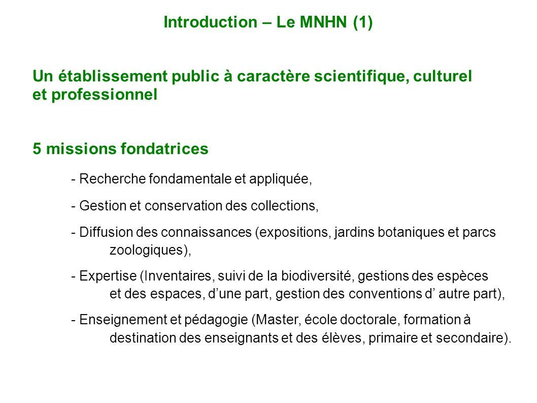 Un établissement public à caractère scientifique, culturel et professionnel 5 missions fondatrices - Recherche fondamentale et appliquée, - Gestion et