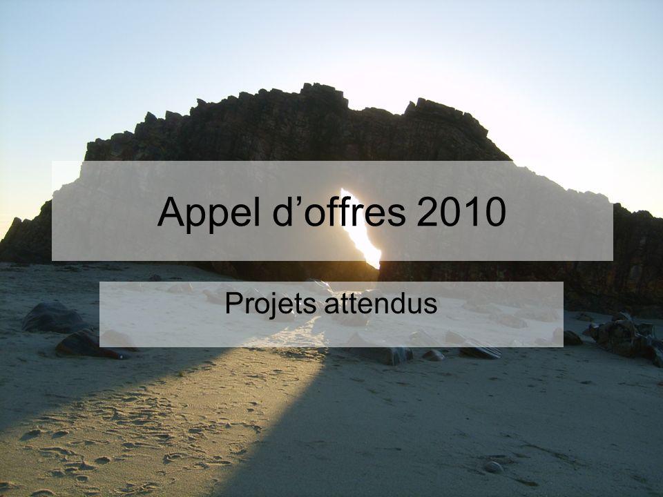 Appel doffres 2010 Projets attendus