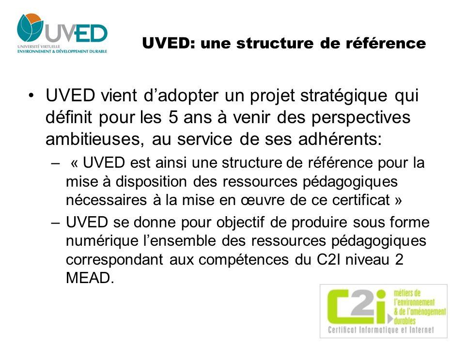 UVED: une structure de référence UVED vient dadopter un projet stratégique qui définit pour les 5 ans à venir des perspectives ambitieuses, au service