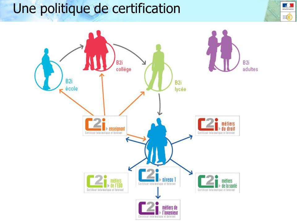 9 CB 9 novembre2009 Université d'automne Grenoble Une politique de certification 9