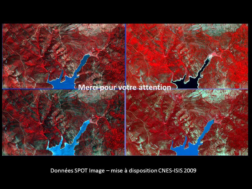 Merci pour votre attention Données SPOT Image – mise à disposition CNES-ISIS 2009