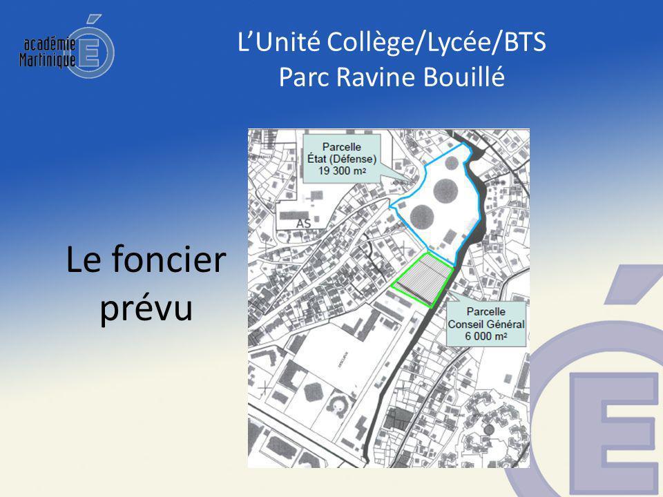 LUnité Collège/Lycée/BTS Parc Ravine Bouillé Le foncier prévu