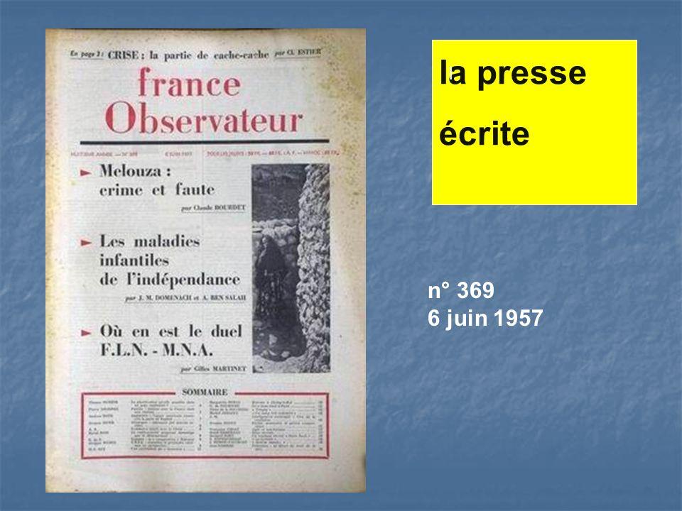 n° 369 6 juin 1957 la presse écrite l