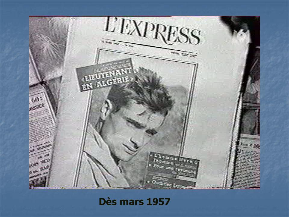Dès mars 1957