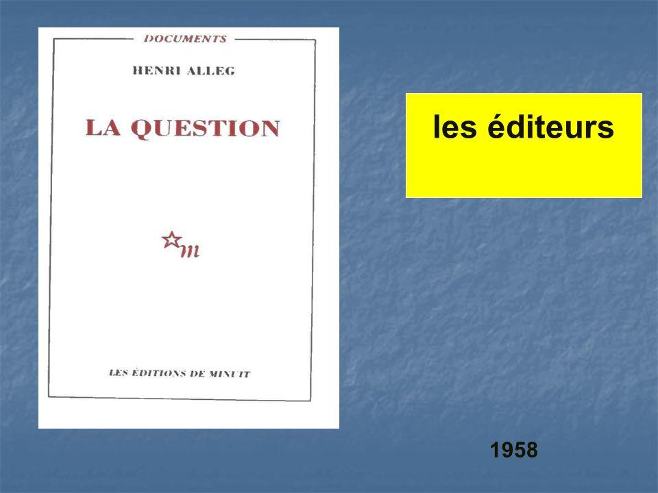 les éditeurs 1958