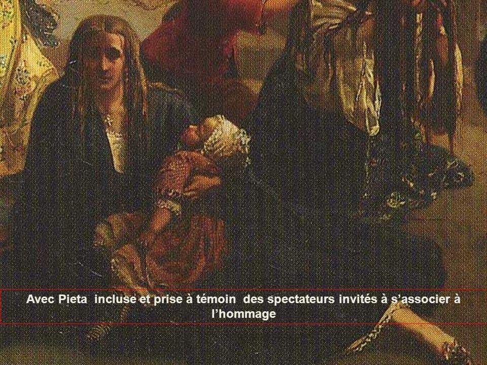 Avec Pieta incluse et prise à témoin des spectateurs invités à sassocier à lhommage