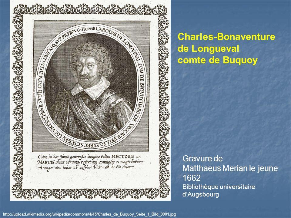 Gravure de Matthaeus Merian le jeune 1662 Bibliothèque universitaire dAugsbourg http://upload.wikimedia.org/wikipedia/commons/4/45/Charles_de_Buquoy_S