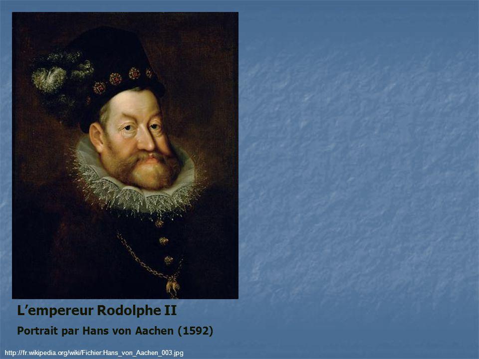 Lempereur Rodolphe II Portrait par Hans von Aachen (1592) http://fr.wikipedia.org/wiki/Fichier:Hans_von_Aachen_003.jpg