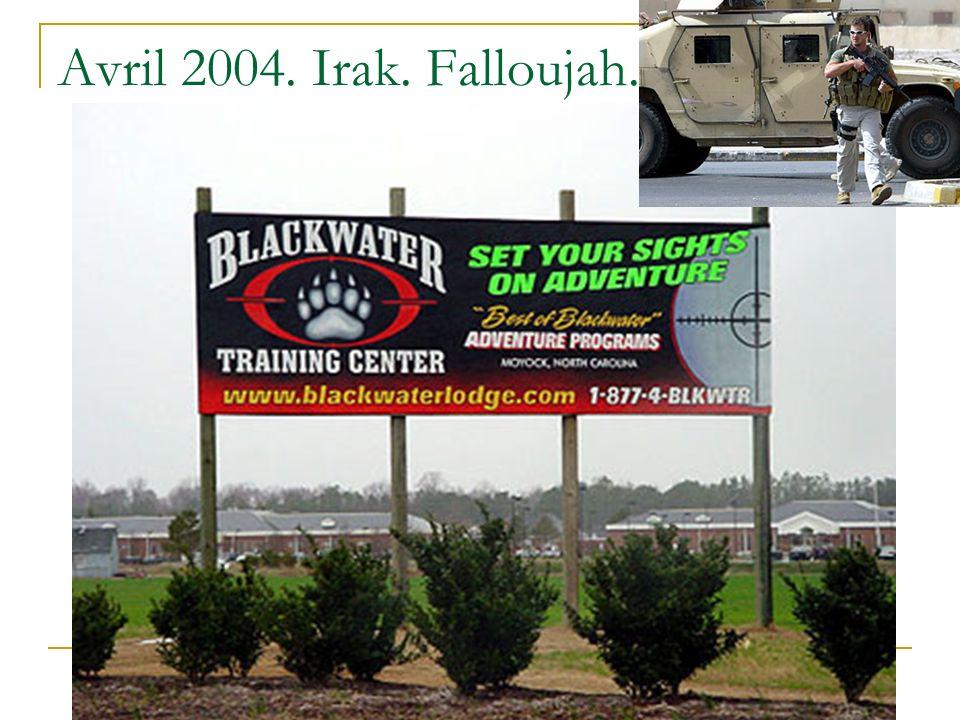Avril 2004. Irak. Falloujah.