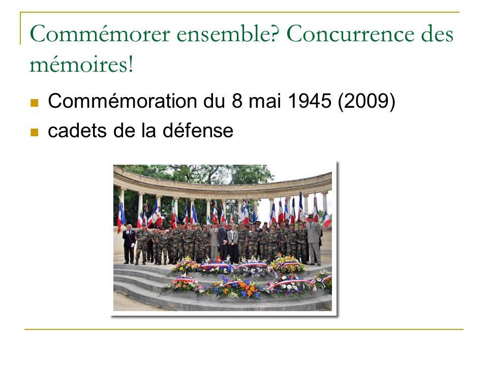 Commémorer ensemble? Concurrence des mémoires! Commémoration du 8 mai 1945 (2009) cadets de la défense