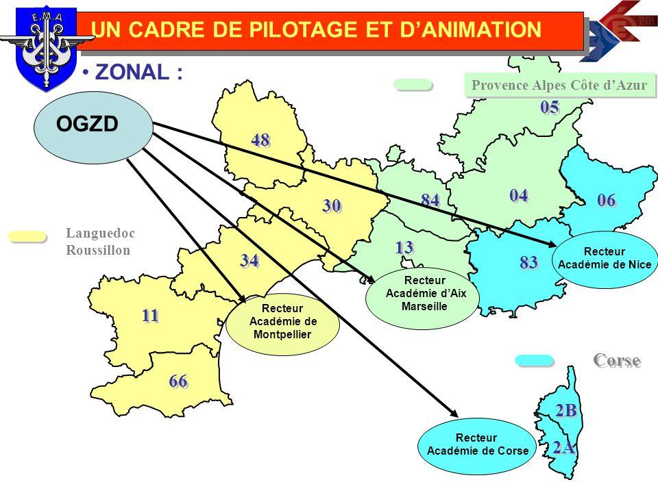 Languedoc Roussillon Le recteur est responsable de la mise en œuvre du protocole Pilotage et la coordination : Mme Farcy-Magdenel Des relais Défense ANIMATION 48 30 34 11 66 UN CADRE DE PILOTAGE ET DANIMATION