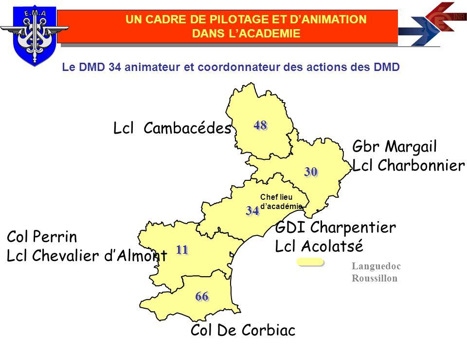 Languedoc Roussillon 48 30 34 11 66 Le DMD 34 animateur et coordonnateur des actions des DMD UN CADRE DE PILOTAGE ET DANIMATION DANS LACADEMIE Col De
