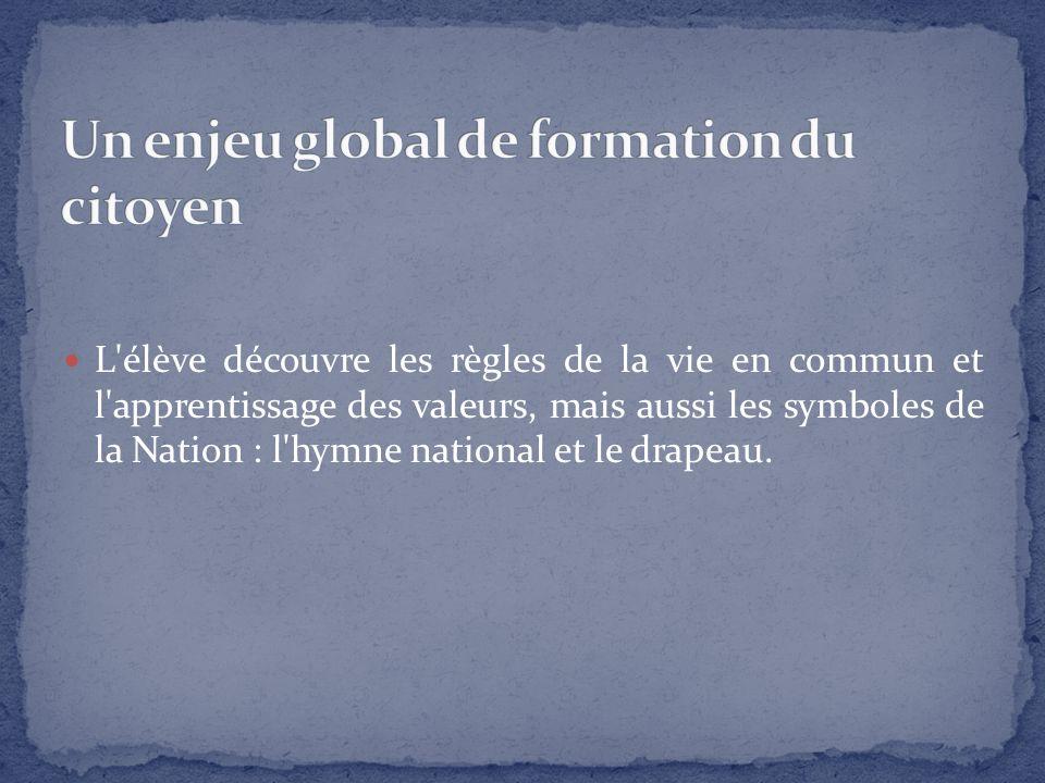 La loi d orientation et de programmation pour l avenir de l École du 23 avril 2005 rappelle que «la nation fixe comme mission première de faire partager aux élèves les valeurs de la République».