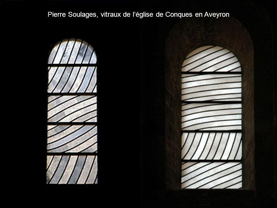 Pierre Soulages, vitraux de léglise de Conques en Aveyron