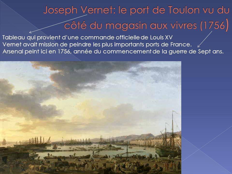 Tableau qui provient dune commande officielle de Louis XV Vernet avait mission de peindre les plus importants ports de France.