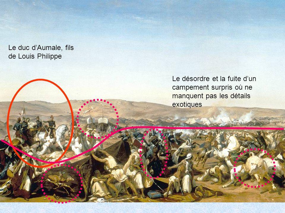 Le duc dAumale, fils de Louis Philippe Le désordre et la fuite dun campement surpris où ne manquent pas les détails exotiques