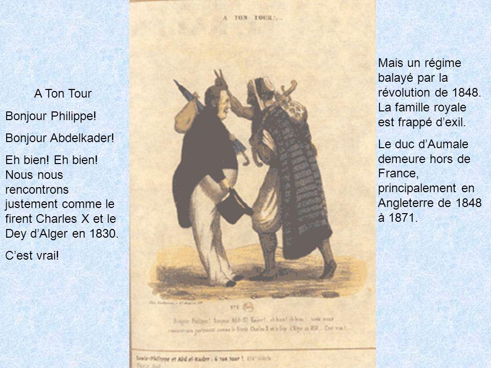 Mais un régime balayé par la révolution de 1848.La famille royale est frappé dexil.