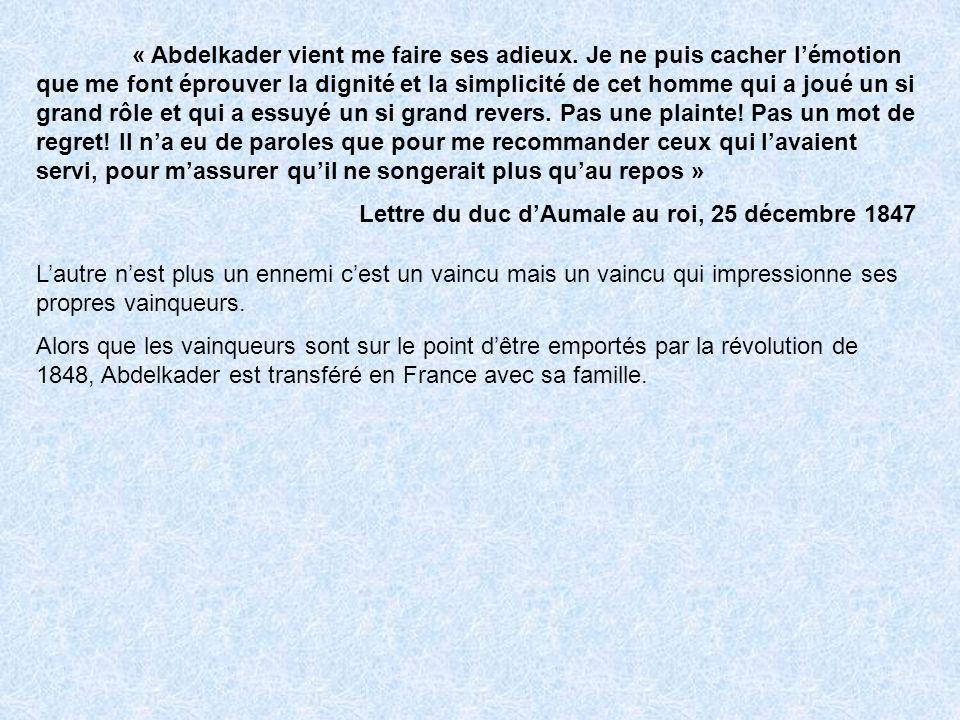 « Abdelkader vient me faire ses adieux.