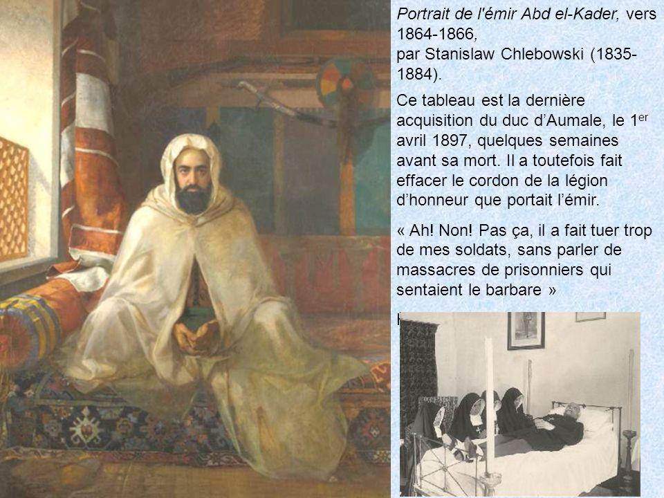 Portrait de l émir Abd el-Kader, vers 1864-1866, par Stanislaw Chlebowski (1835- 1884).