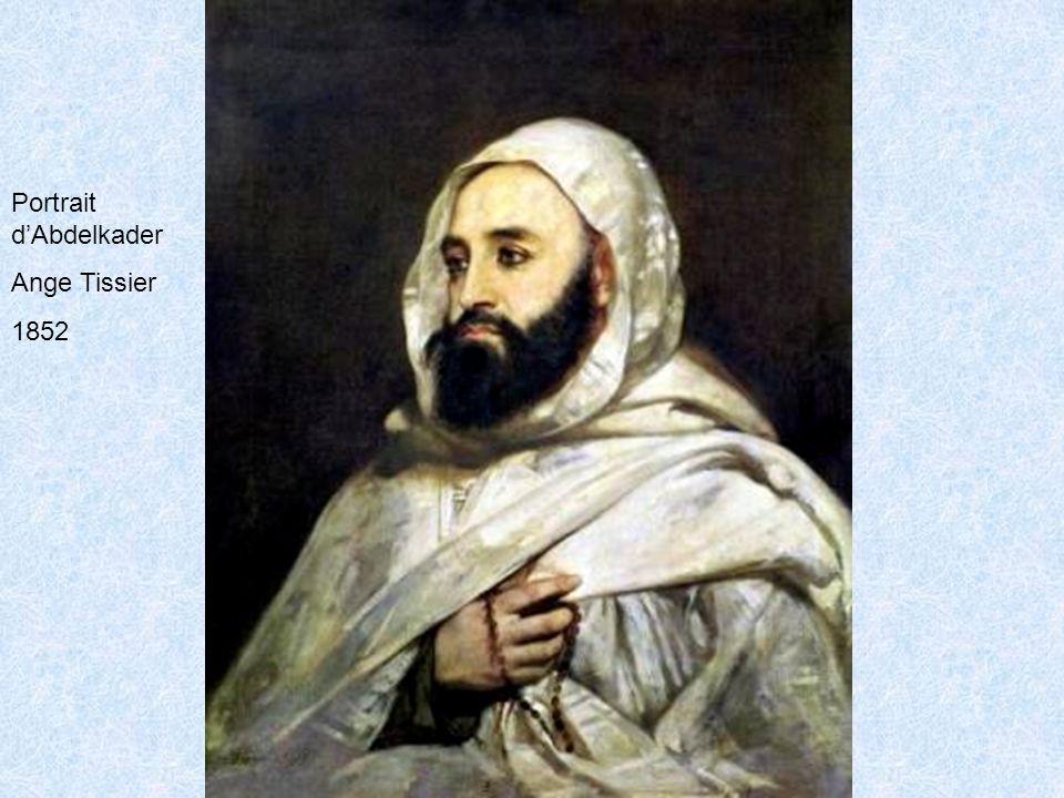 Portrait dAbdelkader Ange Tissier 1852