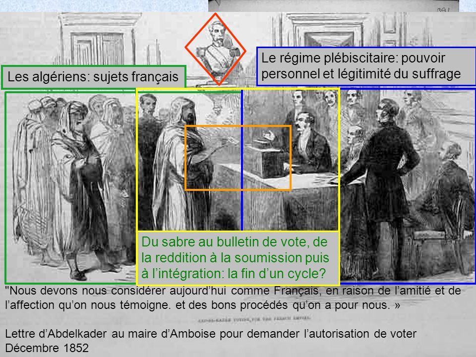 4 decembre 1852 Nous devons nous considérer aujourdhui comme Français, en raison de lamitié et de laffection quon nous témoigne.